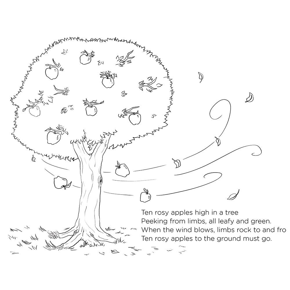Apple Tree Poem & Coloring Sheet