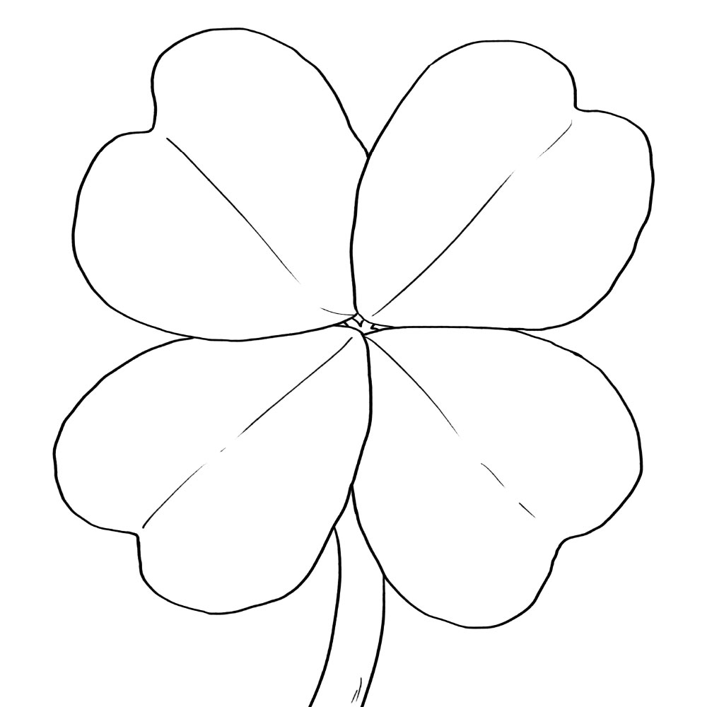Color Your Own Shamrock