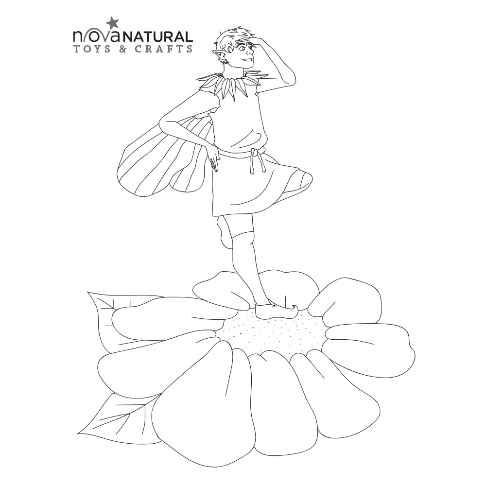 Fairy Boy Coloring Page