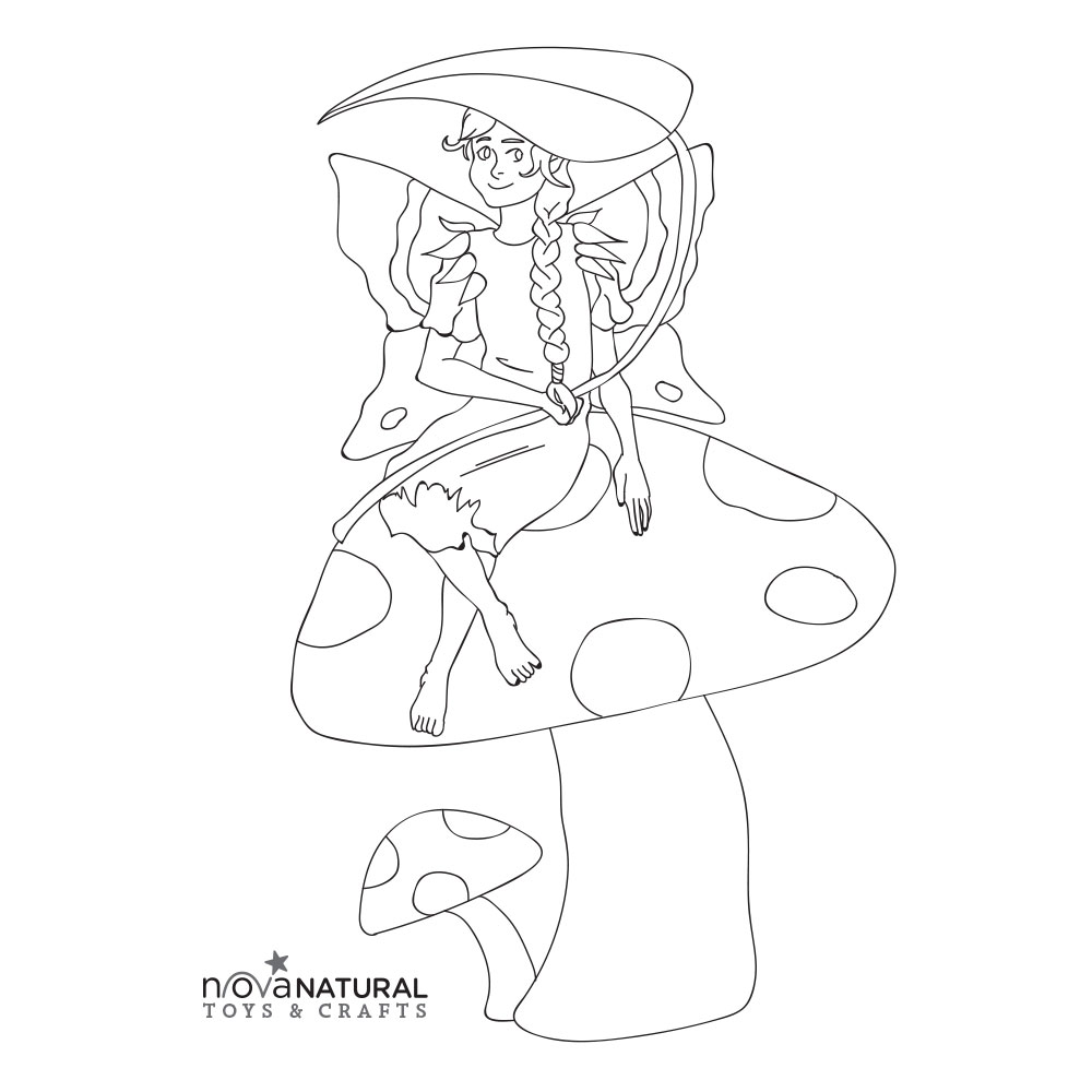 Fairy Girl Coloring Page