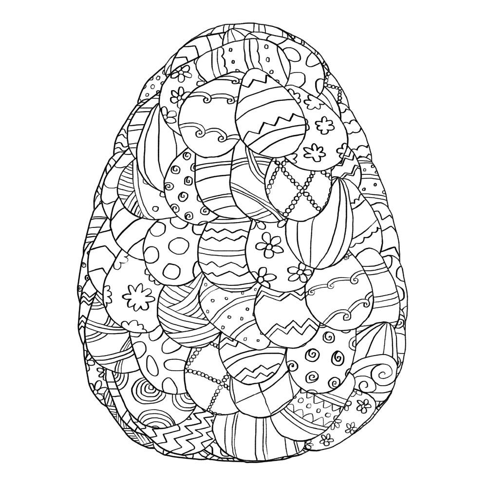 Egg Mosaic Coloring Page