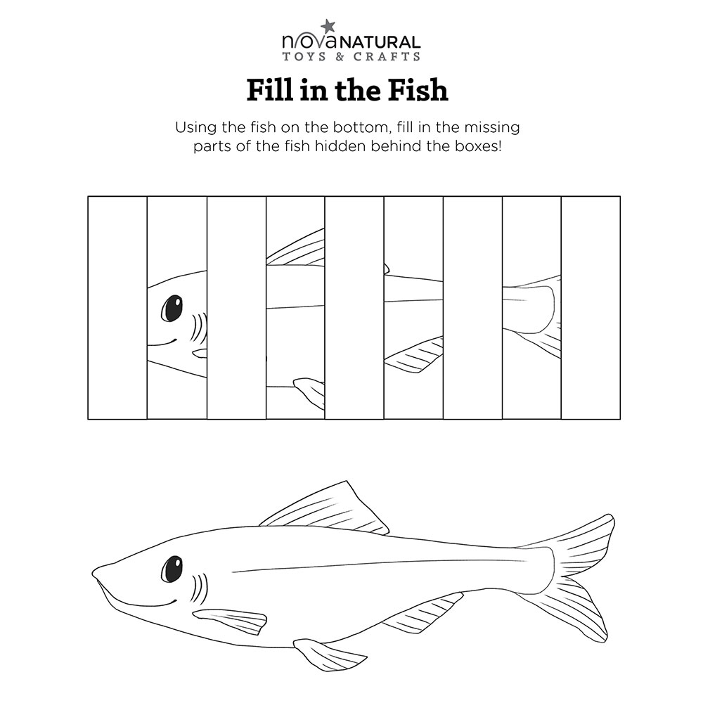 Fill in the Fish Coloring Sheet