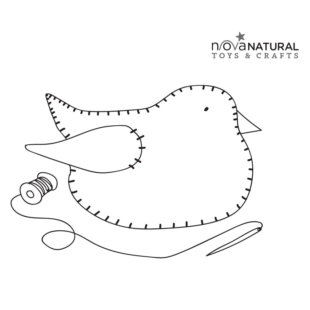 Sewn Chick Coloring Page
